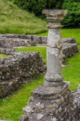 A Roman column on the west range