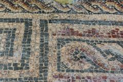 Mosaic floor in a geometric pattern