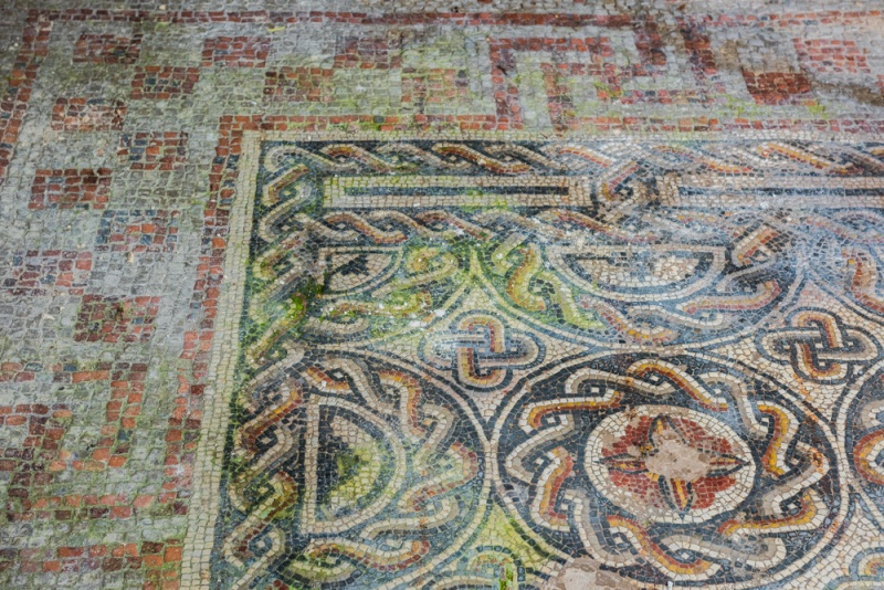 Roman mosaic floor in the south range