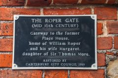 The information plaque on Roper Gate