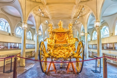 The Gold State Coach in the Royal Mews