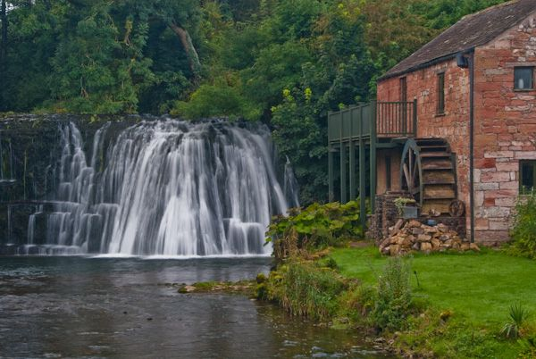 Eden Valley photo, Rutter Force waterfall and mill