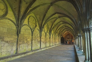 The Salisbury Cathedral cloisters
