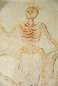 Father Time - wall painting of a skeleton