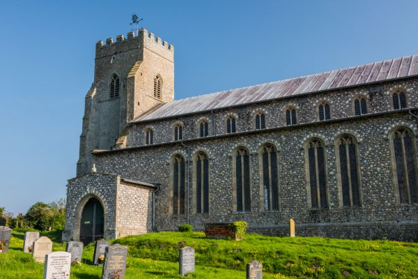 Salthouse, St Nicholas Church photo, The south porch and west tower