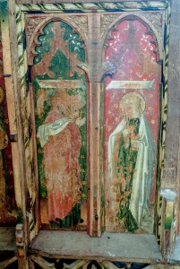 Painted 16th century screen