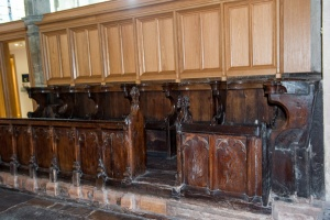 15th century benches in the chancel