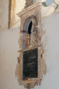 16th century monument, south wall