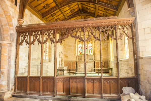 Saundby, St Martin's Church photo, The medieval chancel screen