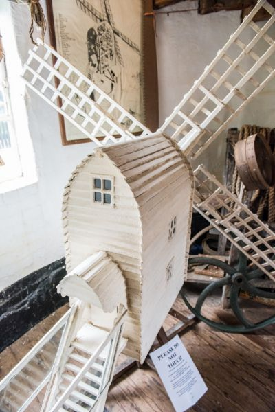 Saxtead Green Post Mill photo, A scale model of the mill