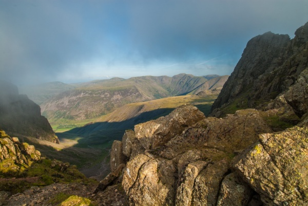 From the shoulder between Sca Fell and Scafell Pike