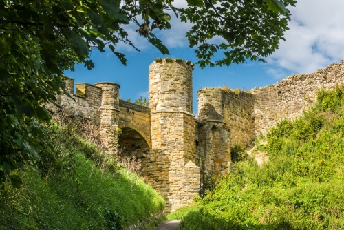 Scarborough Castle barbican gate