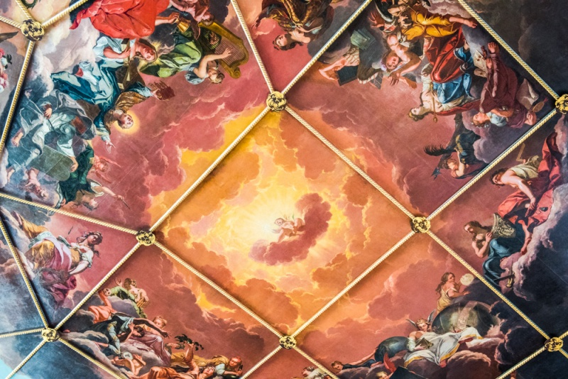 Robert Streater's remarkable painted ceiling