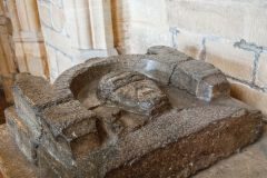 Sherborne Abbey Church, Abbot Clement effigy, c. 1163