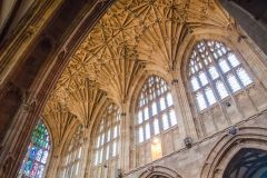Sherborne Abbey Church, The nave clerestory and vaulting