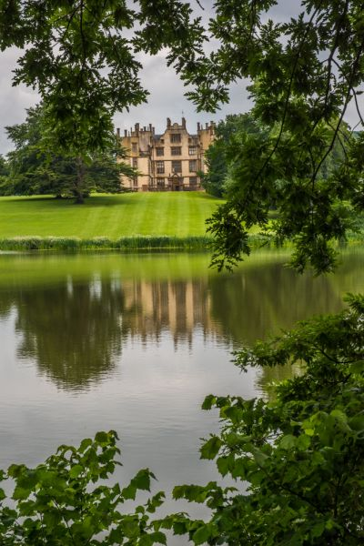 Sherborne Castle photo, The castle from across Capability Brown's lake