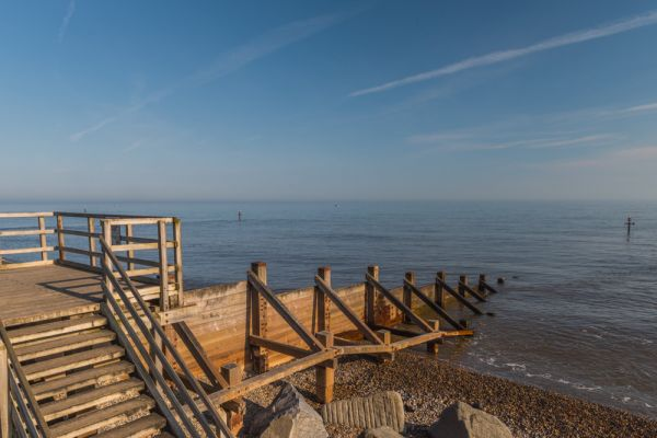 Sheringham photo, A wooden pier stretches into the North Sea