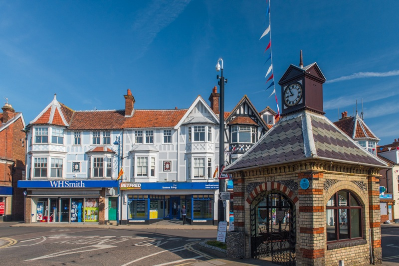 The Victorian water supply and High Street shops in Sheringham