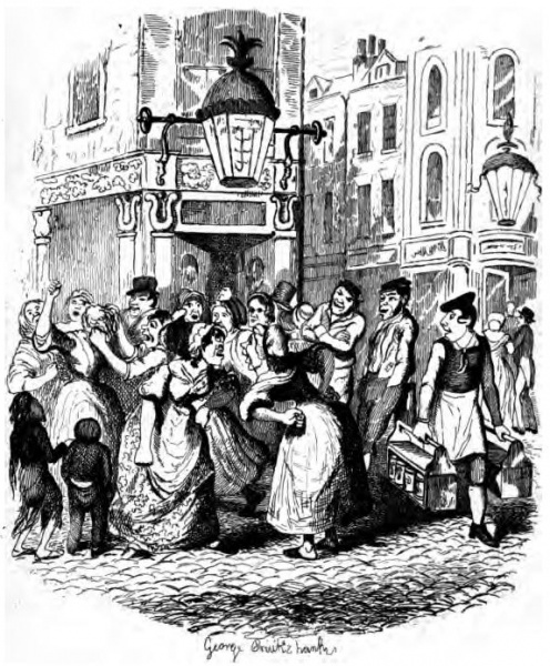 Seven Dials from 'Sketches by Boz' by Charles Dickens