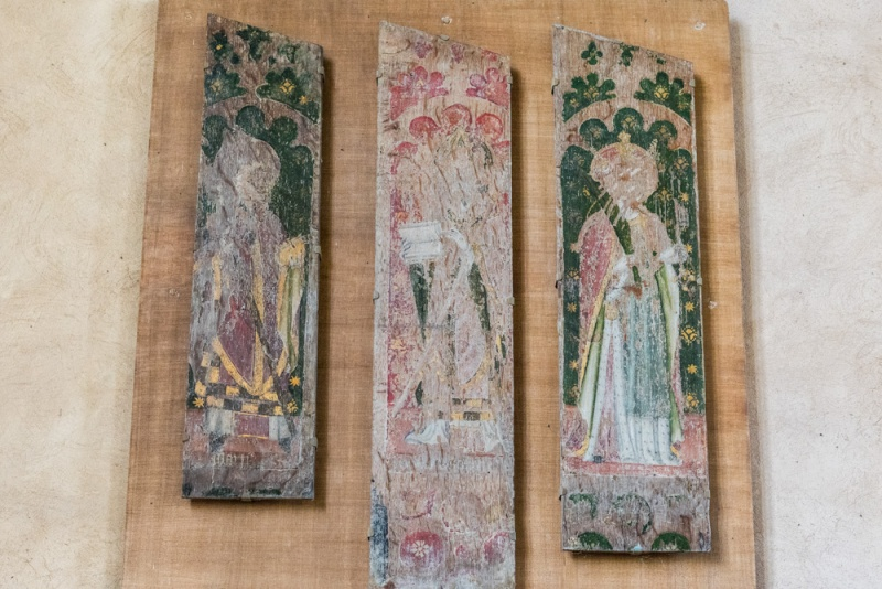 15th century painted screen panels