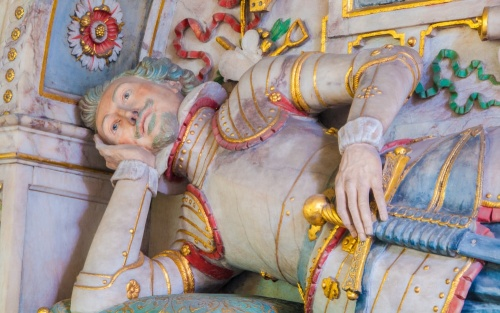 Effigy of Sir George St Paul, builder of Snarford Hall