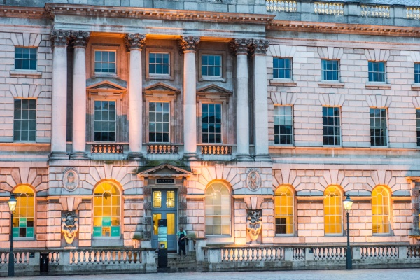 The east wing of Somerset House, evening light