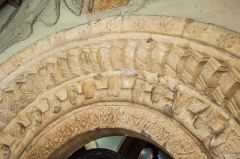 A closer look at the south doorway carved arches