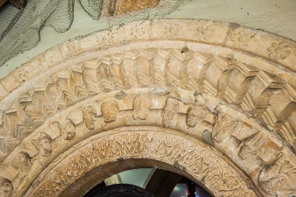 South Cerney, All Hallows Church photo, A closer look at the south doorway carved arches
