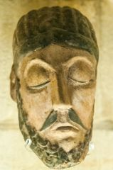 Copy of the 12th century Wood Crucifix head of Christ