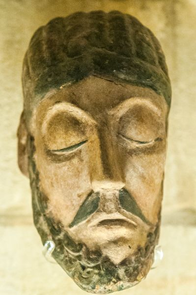 South Cerney, All Hallows Church photo, Copy of the 12th century Wood Crucifix head of Christ