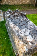 Late medieval tomb chest in the churchyard