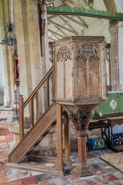 South Creake, St Mary's Church photo, The medieval wineglass pulpit