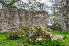 South Elmham Minster, A fallen section of wall