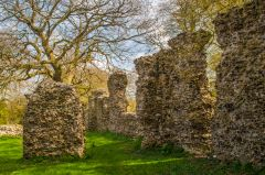 South Elmham Minster, Inside the Minster ruins