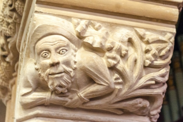 The unusual Green Man at South Molton