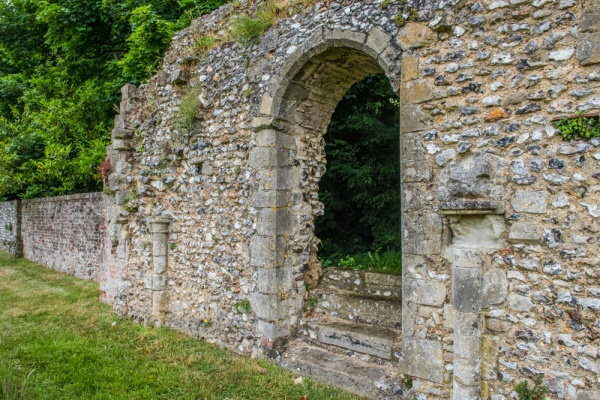 The ruins of Southwick Priory