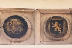 Southwick, St James Without-the-Priory Gate Church, Norton family heraldic plaques