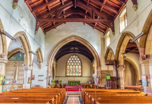The interior of St James' Church, Spilsby
