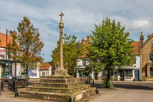 Medieval market cross in Spilsby, Lincolnshire