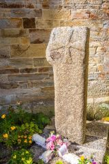 Medieval wayside cross outside the parish church