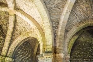 The restored medieval vaulting