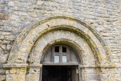 St Aldhelm's Chapel, The 12th century doorway arch