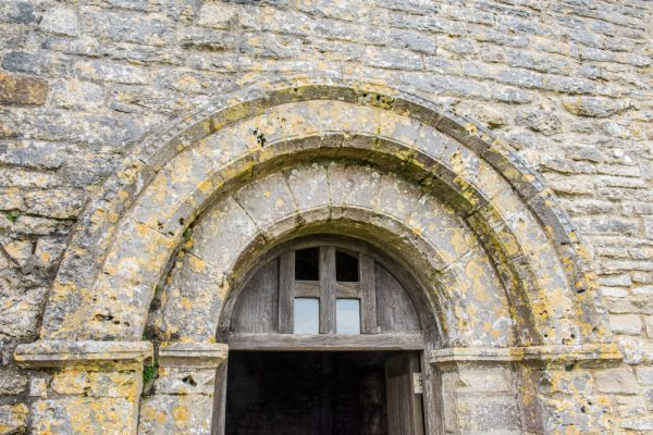 St Aldhelm's Chapel photo, The 12th century doorway arch