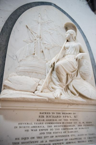 St Anthony-in-Roseland Church photo, Admiral Sir Richard Spry's memorial
