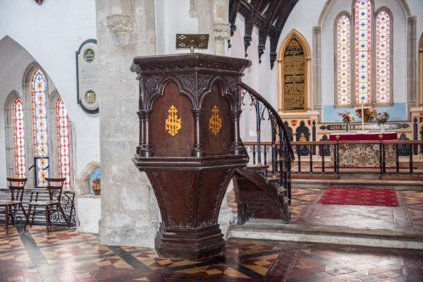 St Anthony-in-Roseland Church photo, A view of the pulpit