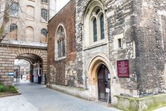The church entrance and Henry VIII gate