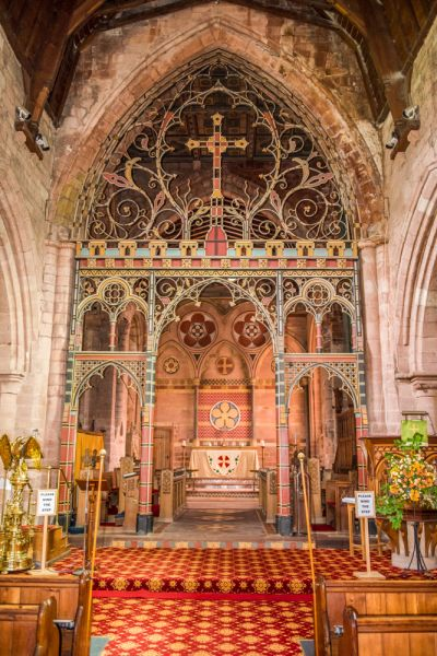 St Bees Priory Church photo, The striking chancel screen