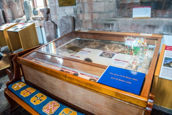 St Bees Priory Church photo, The St Bees Man exhibit case