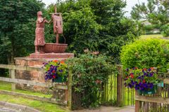 St Bega statue and memorial garden