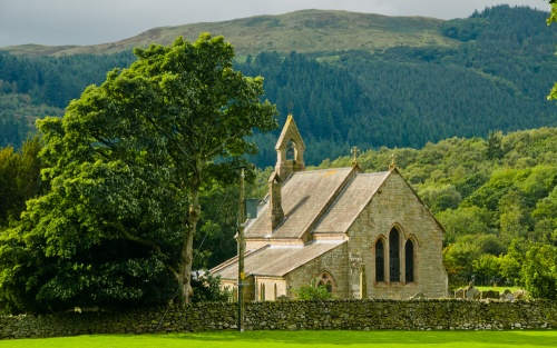 St Bega's church, Bassenthwaite - what a location!
